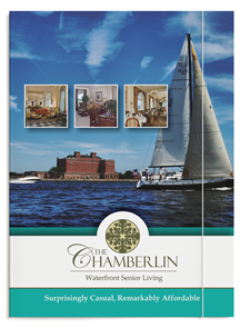 Pocket Folder design for The Chamberlin Senior Living Community