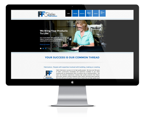 Fabric Fabricators website design