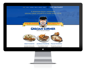 Grecian Corner Website Design by Ecstatic Design