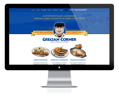 Website Design for Grecian Corner by Ecstatic Design