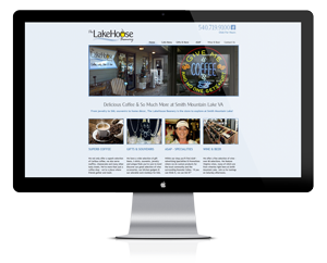 Website design for The Lakehouse Beanery
