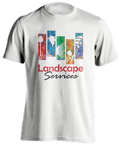 Landscape Services logo design t-shirt