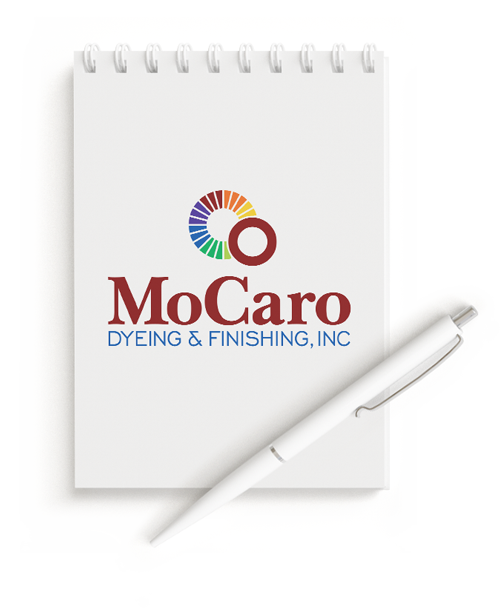 Notepad with Logo Design for MoCaro Dyeing and Finishing