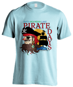 Pirate Days logo design t-shirt