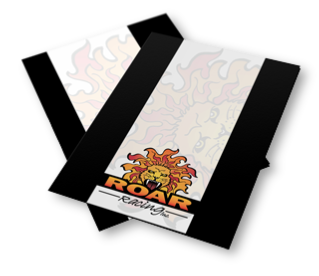 Roar Racing graphic design of marketing two pocket folder