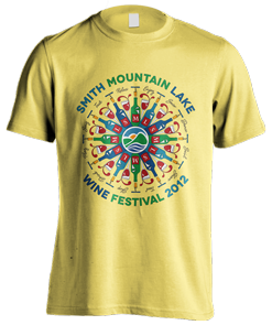 T-shirt logo design for SML wine festival