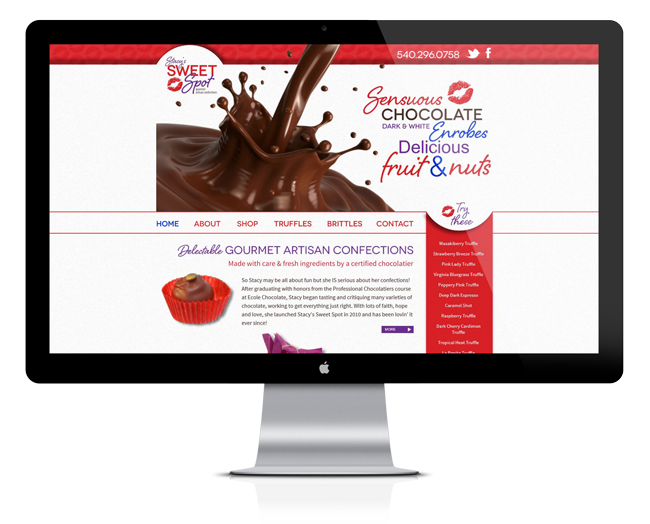 Web Design for Stacy's Sweet Spot