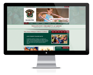 Website design for Wellington Children's Academy